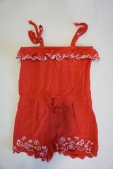 Red Embroidered Tie Romper - Size 4/5T in Ramstein, Germany