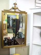 Antique Gesso Gold Framed Mirror with Laurel & Urn Finial in Warner Robins, Georgia