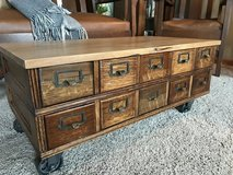 Card Catalog Coffee Table in Plainfield, Illinois