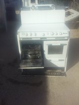 O'Keefe and Merrit 1940's or early 1950's stove in 29 Palms, California