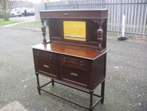 Wonderful 1920's Oak Barley Twist Jacobean Style Canopy Back Sideboard in Lakenheath, UK