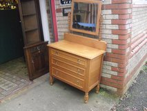 Great Golden Oak 1920's Jacobean Style Dressing Table in Lakenheath, UK