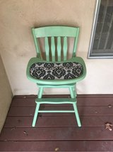vintage teal/blue wood high chair/highchair in Sacramento, California