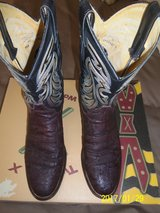 Men's Justin Genuine Elephant Skin Mens Boots sz 9-1/2 B - Very Good Condition in Alamogordo, New Mexico