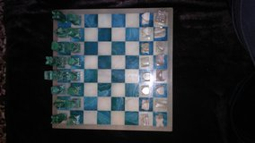 Marble chess set in 29 Palms, California