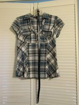 Heart Soul Dressy Checkered Shirt With Belt in Camp Lejeune, North Carolina