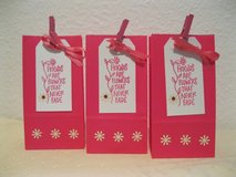 3 Small Paper Bags With Tags Handmade By Me 3.5 x 6.75 in. in Ramstein, Germany