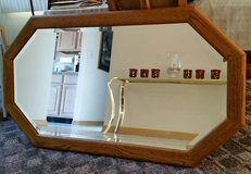 "54"" x 30"" Oak Framed Mirror in Algonquin, Illinois"