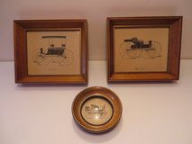 Set of 3 Solid Wood Framed Antique Cars in Naperville, Illinois