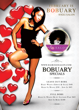 "February is ""Bobuary"" at Hair 2 Go Salon in Valdosta, Georgia"