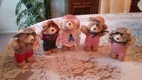 5 Vintage Wendy's collectable bears in Lockport, Illinois