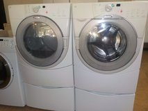 WHIRLPOOL DUET HT FRONT LOAD WASHER & DRYER SET in Lumberton, North Carolina