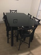 Black Glass Tall Dining Table in Hinesville, Georgia