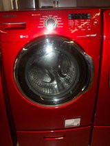 SAMSUNG FRONT-LOAD WASHER WITH PEDESTAL in Lumberton, North Carolina