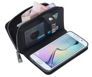 NEW Samsung Galaxy S6 edge plus leather zippered wallet/ case in Hinesville, Georgia