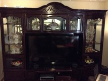 Rosewood Entertainment Center fits 65inch TV in Okinawa, Japan