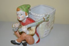 Handpainted Japanese Boy With Basket Planter in Perry, Georgia
