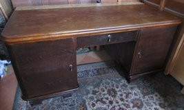 Antique Soilid Wood Oak Desk in Ramstein, Germany