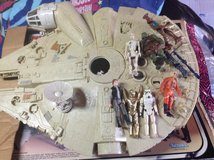 Original Star Wars millennium falcon and original figures in Camp Lejeune, North Carolina