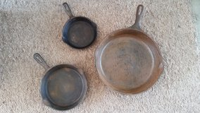 Cast Iron Skillets in Need of Restoring in Camp Lejeune, North Carolina