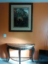 Entry table, art frame in Camp Pendleton, California