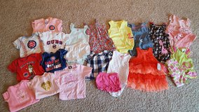 Lot of Baby Girl summer clothes 9 months (22 pieces) in Bartlett, Illinois
