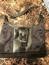 Black Coach Purse with Buckle in Naperville, Illinois