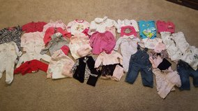 Lot of baby girl fall or winter clothes size 9 months - 52 pieces in Bartlett, Illinois