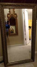 Gold toned, detailed framed mirror in Glendale Heights, Illinois