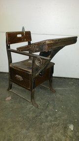Antique Elementary School Desks in Fort Leonard Wood, Missouri