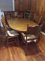 Antique dining room table and chairs in Houston, Texas