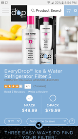 Refrigerator ice & water filter 5 new in Joliet, Illinois