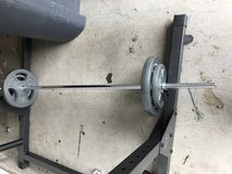 Barbell/ dumbbell with 160 wight set in Travis AFB, California