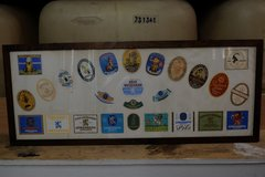 lowenbrau paulaner german beer coaster label display in Ramstein, Germany