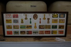 German Beer Label and Coaster Display in Ramstein, Germany