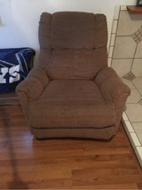 brown suede recliner in Barstow, California