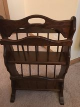 Two sided vintage wooden magazine rack in Naperville, Illinois