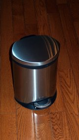 Small Stainless steel pedal trash can in Bolling AFB, DC