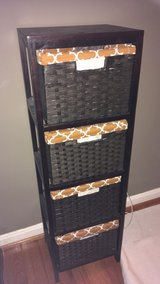 Black woven 4 drawer chest in Bolling AFB, DC