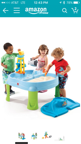 Baby's blue and teal plastic activity table. in Bolling AFB, DC