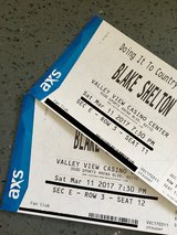 Blake Shelton Tickets! in Vista, California