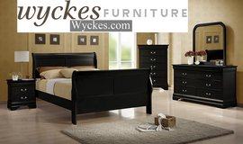 Complete Bedroom Set with Wyckes Pedic Mattress Set in San Diego, California