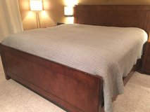 King Bed w/headboard and footboard, solid wood in Chicago, Illinois