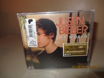 JUSTIN BIEBER-MY WORLD Enhanced CD w/ Video for 2 songs Plus Exclusive Poster in Glendale Heights, Illinois