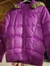 Justice pink puffer coat size 12 in Naperville, Illinois