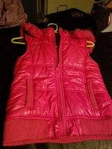 Justice pink puffer vest with hood size 12 in Naperville, Illinois