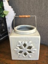 Blue/Gray Candle Holder in Lockport, Illinois