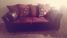Purple couch and love seat in Fort Benning, Georgia