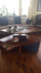 Triangle coffee table w elevated top in Joliet, Illinois