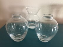 Small Clear Glass Vases in Oswego, Illinois